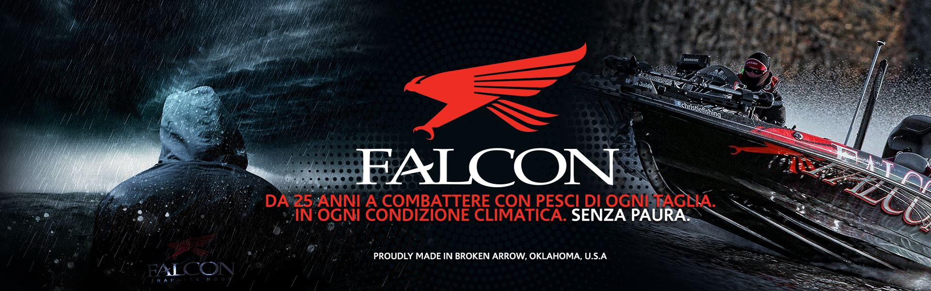 Canne Falcon, per la pesca al bass, alla spigola, al serra. Il top di gamma