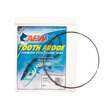 Immagine di American Fishing Wire Tooth Proof Stainless Steel Leader Wire