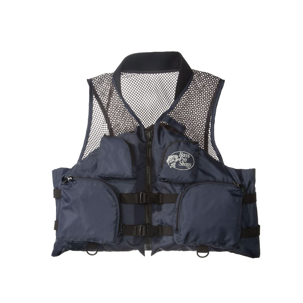 Bass store italy bass pro shops deluxe mesh fishing for Bass fishing life jacket