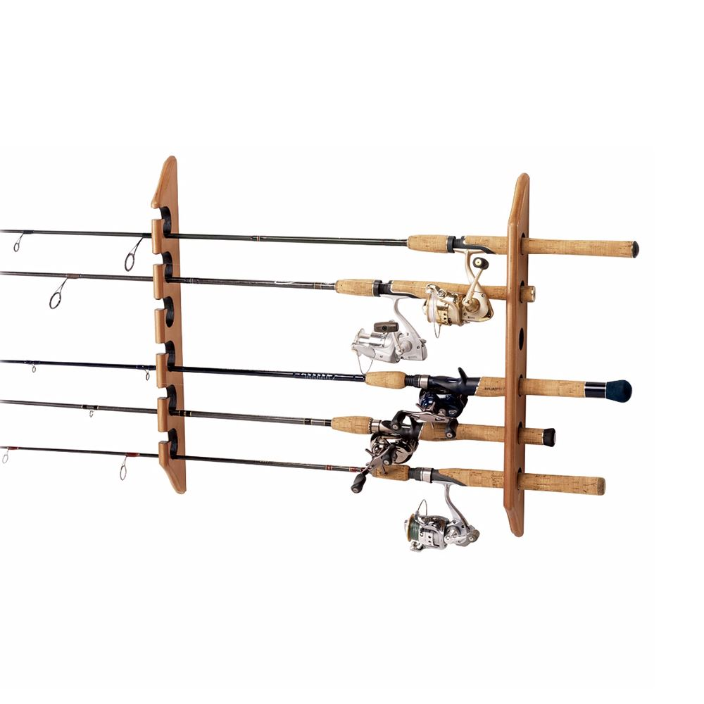 Bass store italy bass pro shops vertical wall rack for Fishing pole wall rack