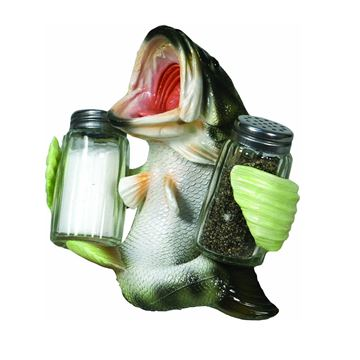 Immagine di Rivers Edge Bass Glass Salt and Pepper Shaker Set