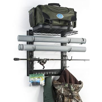Immagine di Organized Fishing Metal Game Changer Wall Rack
