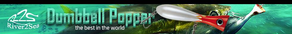 dumbbell popper, river2sea, saltwater, popper, fishing, saltwater, sw, tuna, serra, tonno, mare