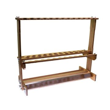 Immagine di Bassstoreitaly Wooden Rod Rack