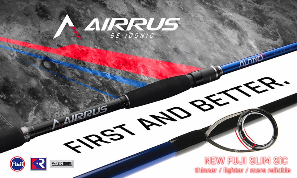 airrus alano power magma fuji slim sic saltwater spinning rod